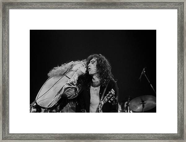 Robert Plant And Jimmy Page Framed Print by Art Zelin
