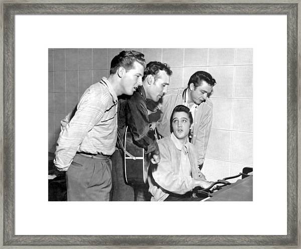 Rock And Roll Musicians Jerry Lee Framed Print by Michael Ochs Archives