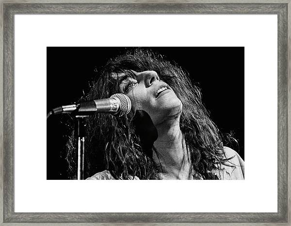 Rock Singer Patti Smith In Concert Framed Print by George Rose