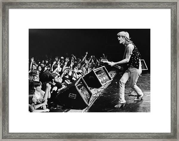 Rock Singer Tom Petty In Concert Framed Print