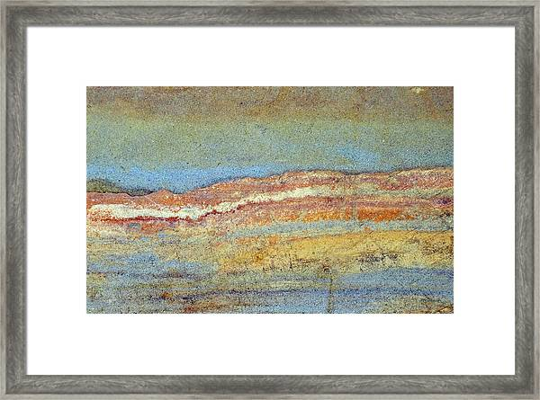 Rock Stain Abstract 3 Framed Print