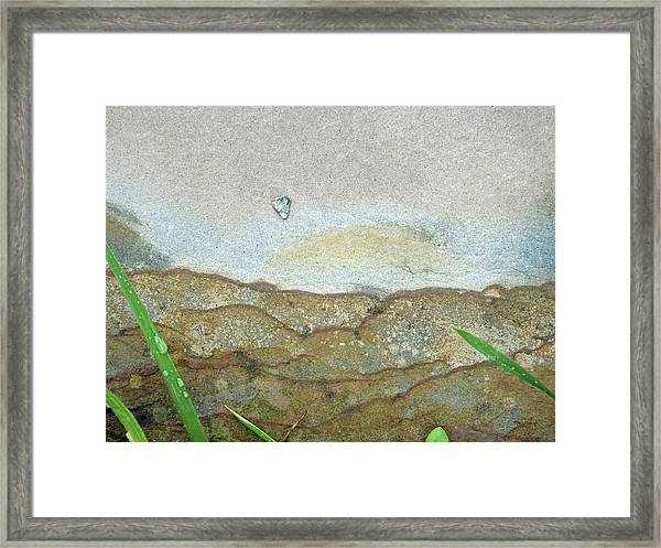 Rock Stain Abstract 5 Framed Print