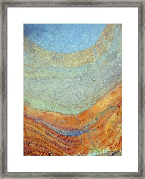 Rock Stain Abstract 7 Framed Print