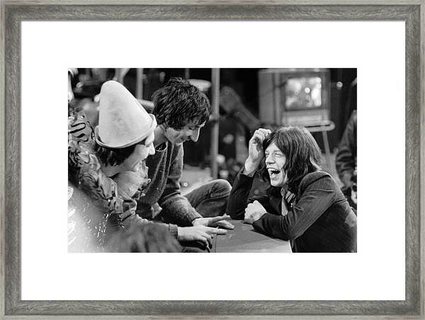 Rock Star Chat Framed Print