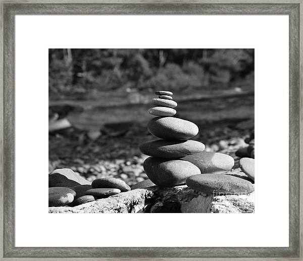Rock Zen 7 Framed Print