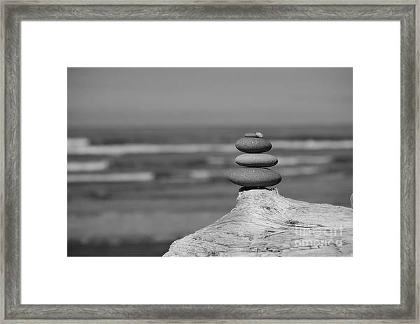 Rock Zen I Framed Print