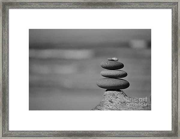 Rock Zen 6 Framed Print