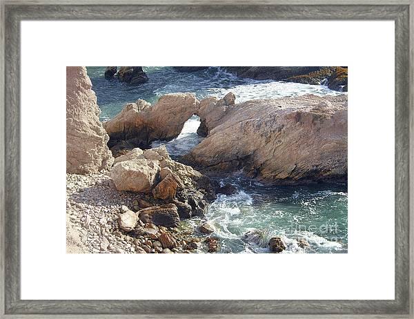 Rocks At Montana De Oro Framed Print