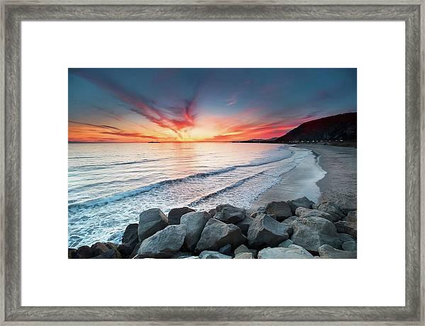 Rocks On Sea Framed Print