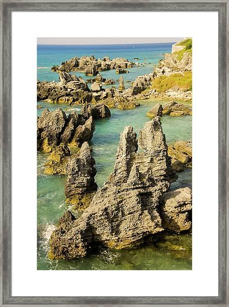 Rocky Coast St. Georges Bermuda Framed Print