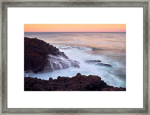 Framed Print featuring the photograph Rocky Creek by Whitney Goodey