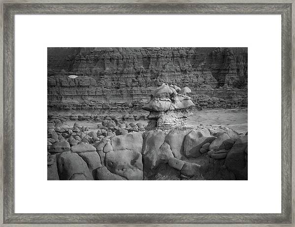 Rocky Desert Formation Framed Print