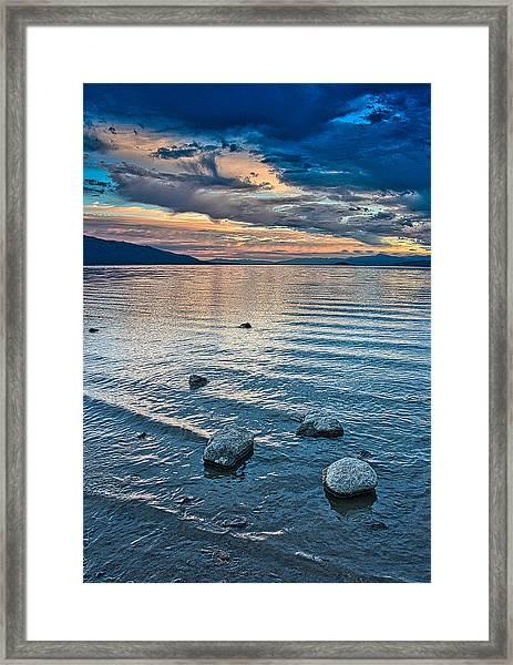 Rocky Lake Vista Framed Print