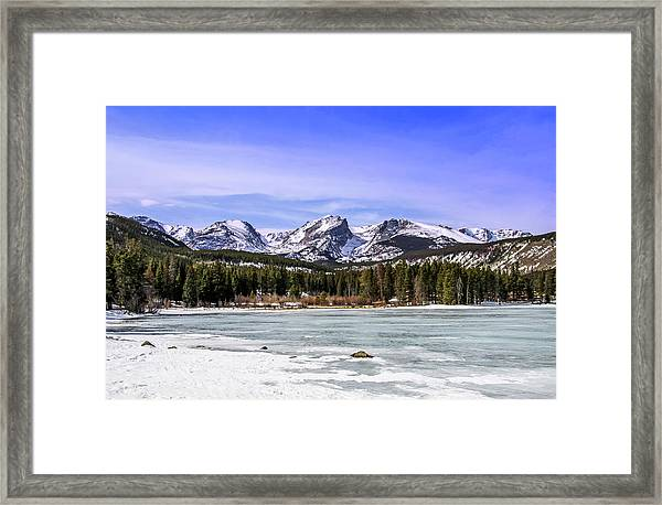 Framed Print featuring the photograph Rocky Mountain Lake by Dawn Richards