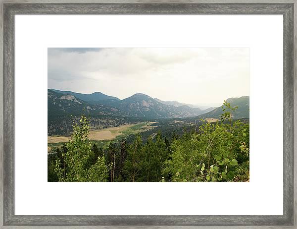 Rocky Mountain Overlook Framed Print