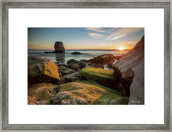 Rocky Pismo Sunset Framed Print
