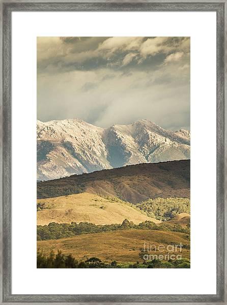Rocky Rural Region Framed Print