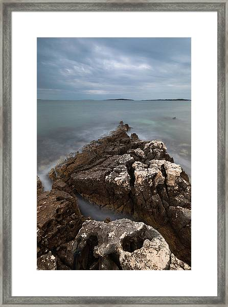 Rocky Triangle Framed Print