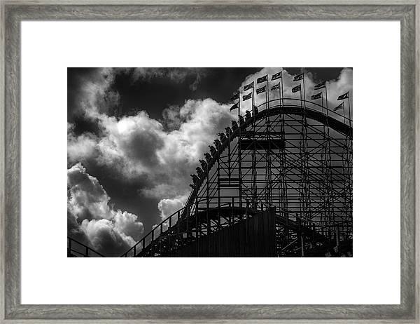 Roller Coaster Of Joy, Tayto Park, Dublin Framed Print