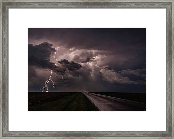 Rollin On Down The Road Framed Print