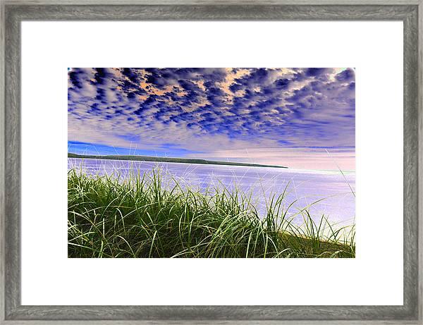 Rolling Blue Sky Over Lake Superior Framed Print