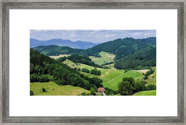 Rolling Hills Of The Black Forest Framed Print