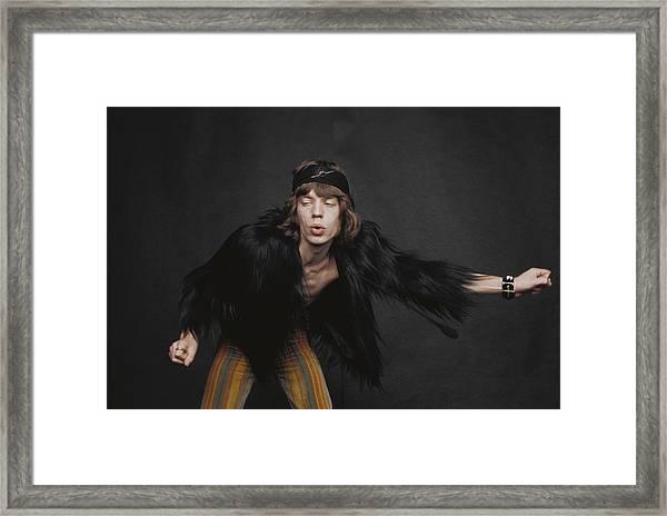 Rolling Stones Singer Framed Print