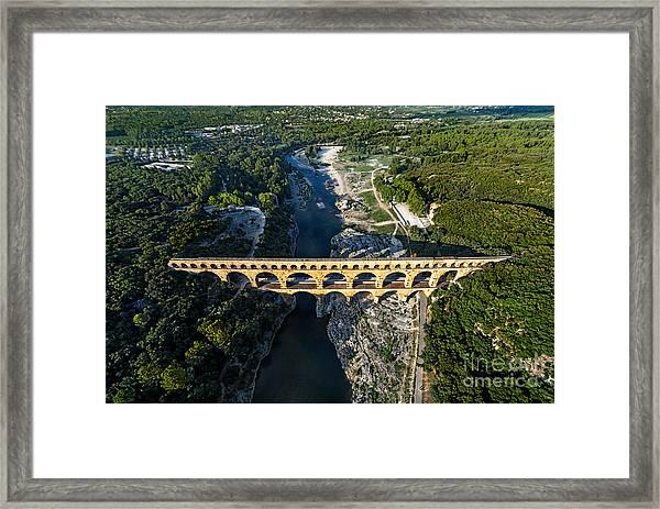 Roman Aqueduct, Pont Du Gard Framed Print