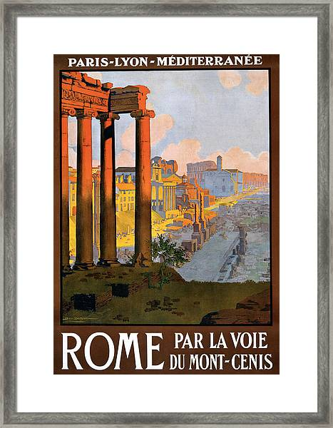 Rome Travel Poster Framed Print