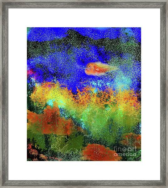 Ronda The Rock And Roll Fish Framed Print