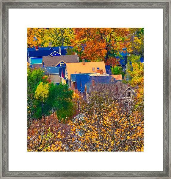 Rooftops Framed Print