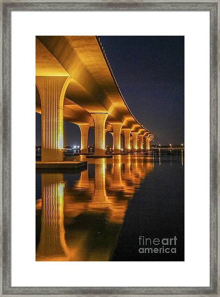 Framed Print featuring the photograph Roosevelt Bridge Portrait by Tom Claud