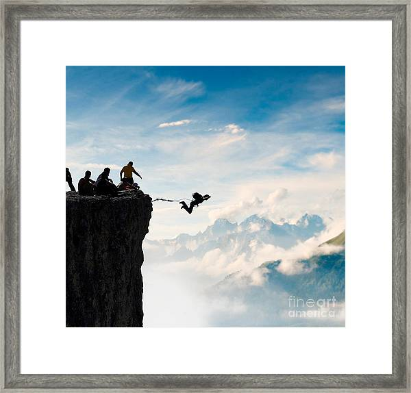 Rope Jumping Framed Print by Alexei Zinin