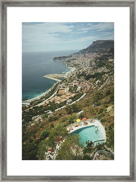 Roquebrune-cap-martin Framed Print by Slim Aarons