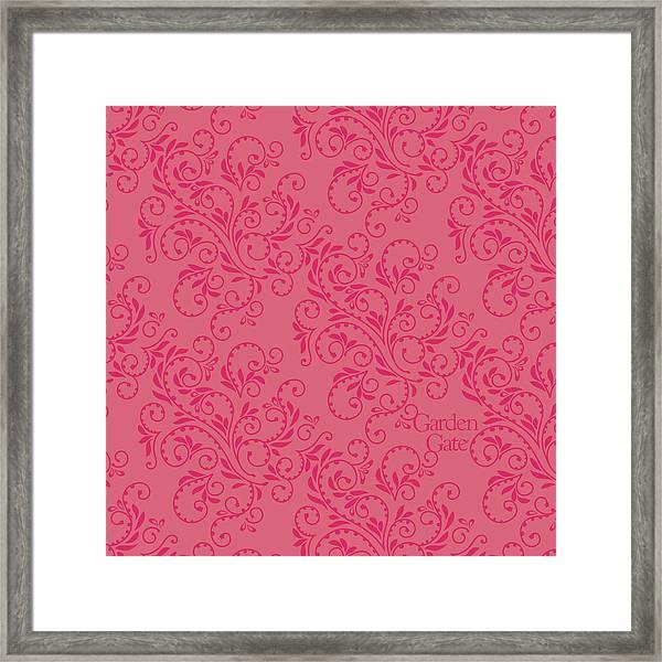 Rose Colored Fern Pattern Framed Print