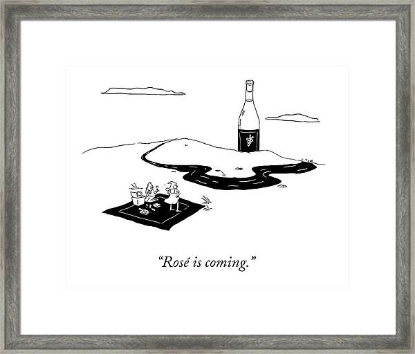 Rose Is Coming Framed Print