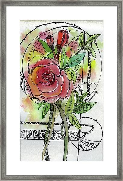 Rose Is Rose Framed Print