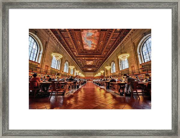 Rose Main Reading Room, Nyc Public Framed Print