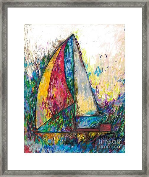 Rough Sailing Framed Print