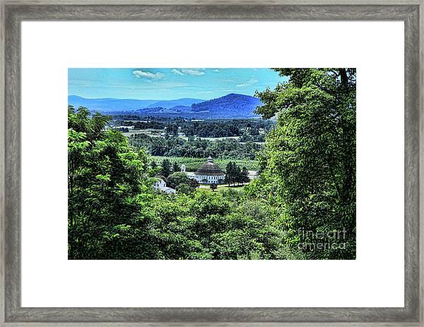 Round Barn Landscape Framed Print