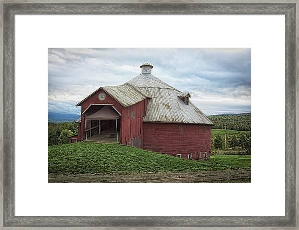 Round Barn - Mansonville, Quebec Framed Print