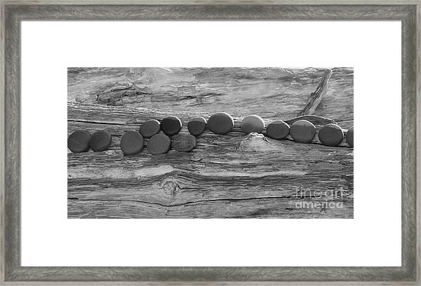 Round Rocks Framed Print