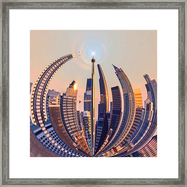 Round The City Framed Print