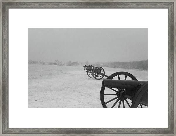 Row Of Cannon Framed Print