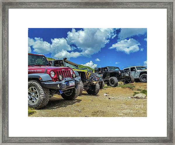 Row Of Jeeps Framed Print