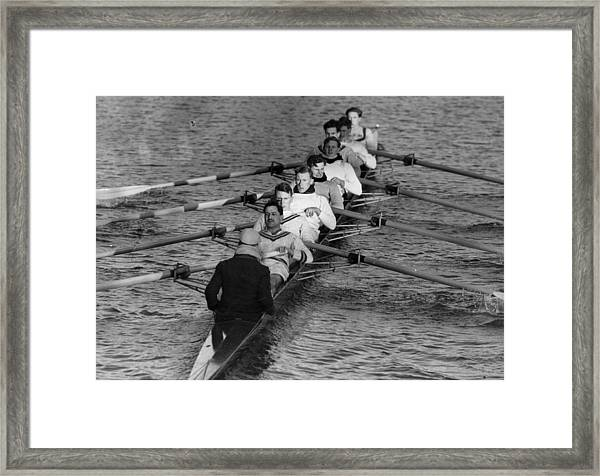 Rowing Eight Framed Print