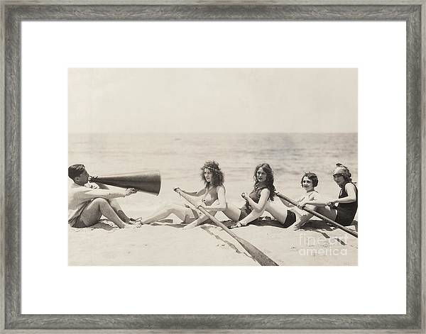 Rowing Lesson Framed Print