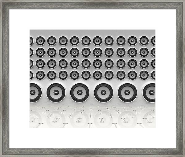 Rows Of Speakers Digital Framed Print