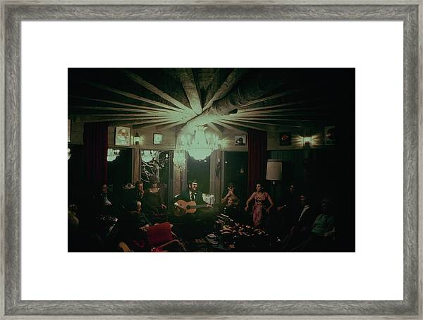 Roy Orbison Plays For Guests At Singer Framed Print