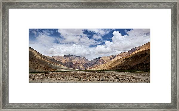 Framed Print featuring the photograph Rugged Himalayan Mountains by Whitney Goodey